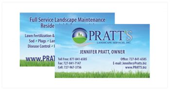 business-cards-pratts-landscaping