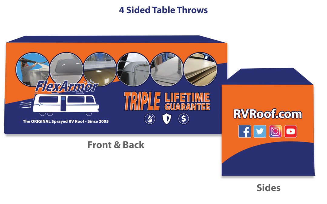 Client Projects: Trade Show Table Cover